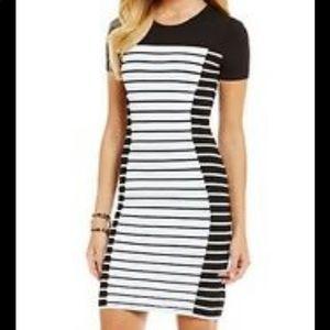 MICHAEL KORS striped bodycon  Sheath Dress,